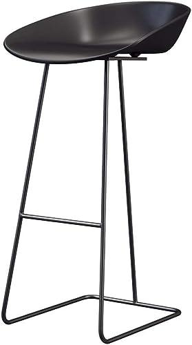 XING-ZI-stool C-K-P Tabouret de Bar, Style Minimaliste Moderne, Fer forgé élégant et créatif avec Chaise Haute pour Restaurant (Taille   65cm)