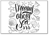 Dreams About Sea - Imán para nevera, diseño de estrella de mar