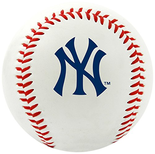 Rawlings MLB New York Yankees Team Logo Baseball, Official, White