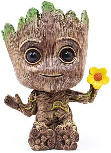Baby Groot Maceta - maceta para macetas suculentas Tree Man, maceta para plantas portalápices adorno de oficina maceta para regalo de cumpleaños Navidad