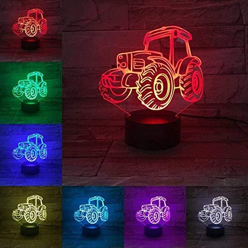 Lámpara de ilusión 3D Luz de Noche LED Camión SUV de Noche Bombilla Multicolor Flash Fade Vacation ATV Dune Shaped Beach Buggy Luminaria Cruiser Lámpara de sueño
