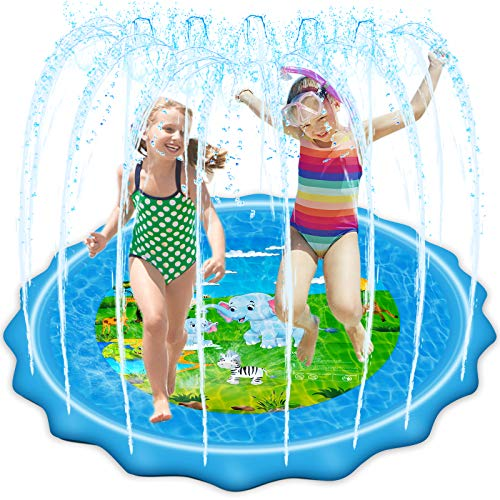 VOROSY Upgraded 79' Sprinkler & Splash Play Mat, Splash Pad, Inflatable Summer Outdoor Sprinkler Pad Water Toys Fun for Children, Infants, Toddlers, Boys, Girls and Kids