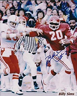 Autographed Billy Sims 8x10 Oklahoma Sooners Photo with COA