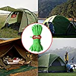nuoshen Guy Ropes, 6 Pack 4mm Tent Guy Line 13 Feet Reflective Cord Guy Line Tent Guide Rope for Awning Camping