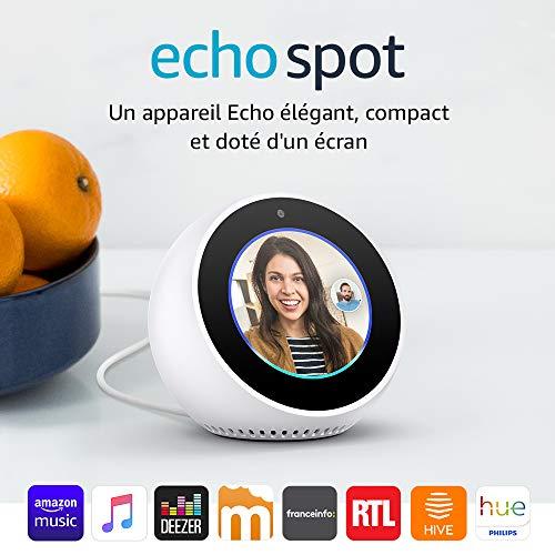Réveil connecté Amazon Echo Spot 2