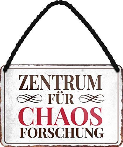 N / A Zentrum für Chaos Forschung - Büro 18x12 cm Spruch Blechschild Hängeschild HS257