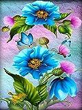 5D fai da te fiore farfalla punto croce diamante ricamo in vendita mosaico strass immagine pittura diamante A8 60x80cm