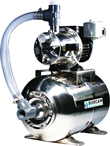 BurCam 506547SS SW Stainless Steel Jet Pump/Tank, Ml25H 3/4 hp, 115V/230V