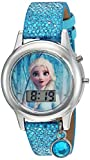 Frozen Girls' Quartz Watch with Plastic Strap, Turquoise, 16 (Model: FZN4508AZ)