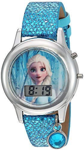 powerful Anna and the Snow Queen Quartz Watch, Plastic Strap, Turquoise, 16 (Model: FZN4508AZ)
