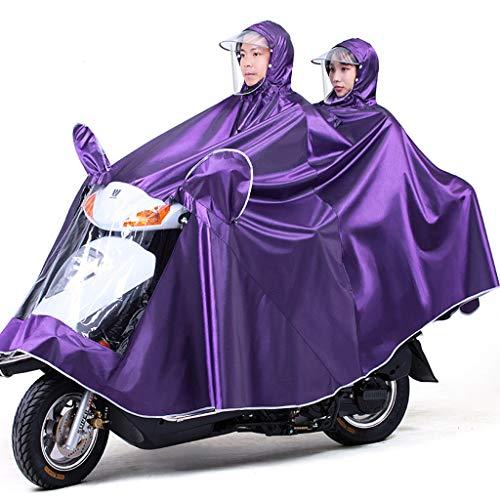Electric Mobility Scooter Motorfiets Grote Rain Cape Coat, Om Te Fietsen, Hardlopen, Unisex - Hooded Compact Rain Cape,Purple,5XL