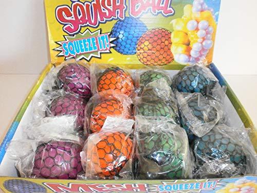 Schnooridoo 4X Quetschball im Netz Knetball Knautschball Anti Stressball Stress Ball Quetschen