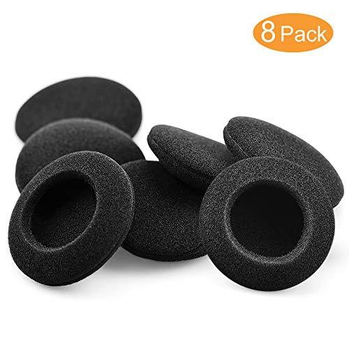 Almohadillas Auriculares,Tesrank Almohadilla Espuma Reemplazo 8 Piezas Oído Repuesto Esponja Earpads Compatible con Mayorías de Auriculares- Negro,49-53mm/1.93'-2.1'