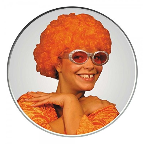 Party Pro Green Pop Wig Perruque 830107 Orange, Taille Unique