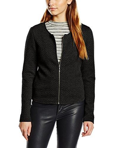 Vila Damen Vinaja New Short Jacket Blazer, Schwarz (Black), 36 (Herstellergröße: S)