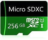 Tarjeta Micro SD de 256 GB de alta velocidad Clase 10 Micro SD SDXC con adaptador (256 GB-a)