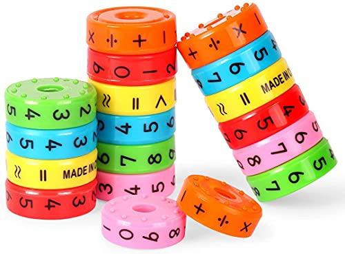 Zaloife Aritméticas Juguetes, 3pcs Juguete de Aprendizaje Aritmético Magnético, Juguete de Matemáticas Educativos, Magnéticos Juegos de Matemáticas, Juguetes de Las Matemáticas para los Niños