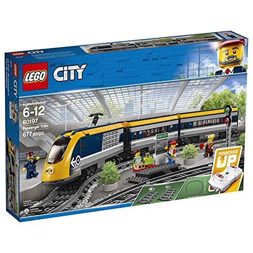 LEGO CityTrains TrenoPasseggeri, Motore Alimentato a Batteria,Connessione RemotaBluetooth,Binari e Accessori, 60197