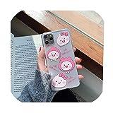 日本かわいい漫画桃透明電話ケースiphone 11プロマックスX XS XR 7 8プラス素敵なクリアカップルカバーCoque、iphone X、2