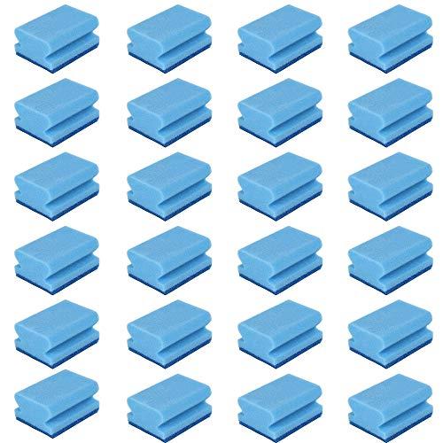 24 Estropajos salvauñas azules | Estropajo de cocina multiuso triple capa | Estropajo especial acero inox. | 24 Unidades