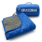 Grassman Outdoor Camping Blanket, Large Waterproof Blanket, Soft Warm Thick Fleece Camping Blanket, Windproof, Sandproof, Ideal Blanket for Outdoor Sports, Picnics, Camping and Beach