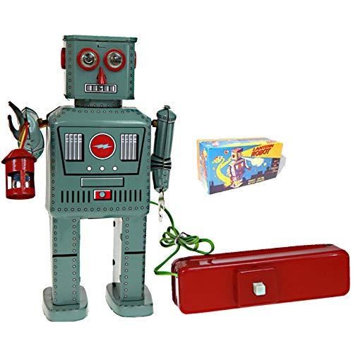 TR2050Laterne Roboter Blechspielzeug Fernbedienung batteriebetrieben Smokes Hard To Get