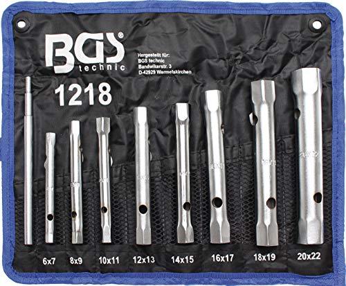 BGS 1218 | Juego de llaves de tubo | SW 6 x 7 - 20 x 22 mm | 9 piezas