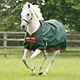 Rambo 'Original' by Horseware Lite Weight Turnout Blanket - Green/Red 75