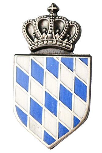 Pin'Bayerische Raute' mit Krone, Trachtenhut Pin mit bayerischem Staatswappen, 3 cm x 1,5 cm
