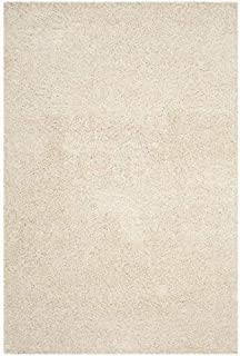 SAFAVIEH Laguna Shag Collection SGL303V Solid Non-Shedding Living Room Bedroom Dining Room Entryway Plush 2-inch Thick Acc...