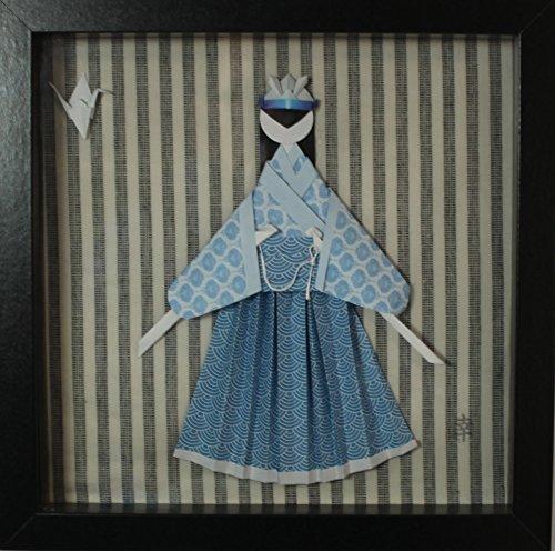 Cuadro de origami de samurai