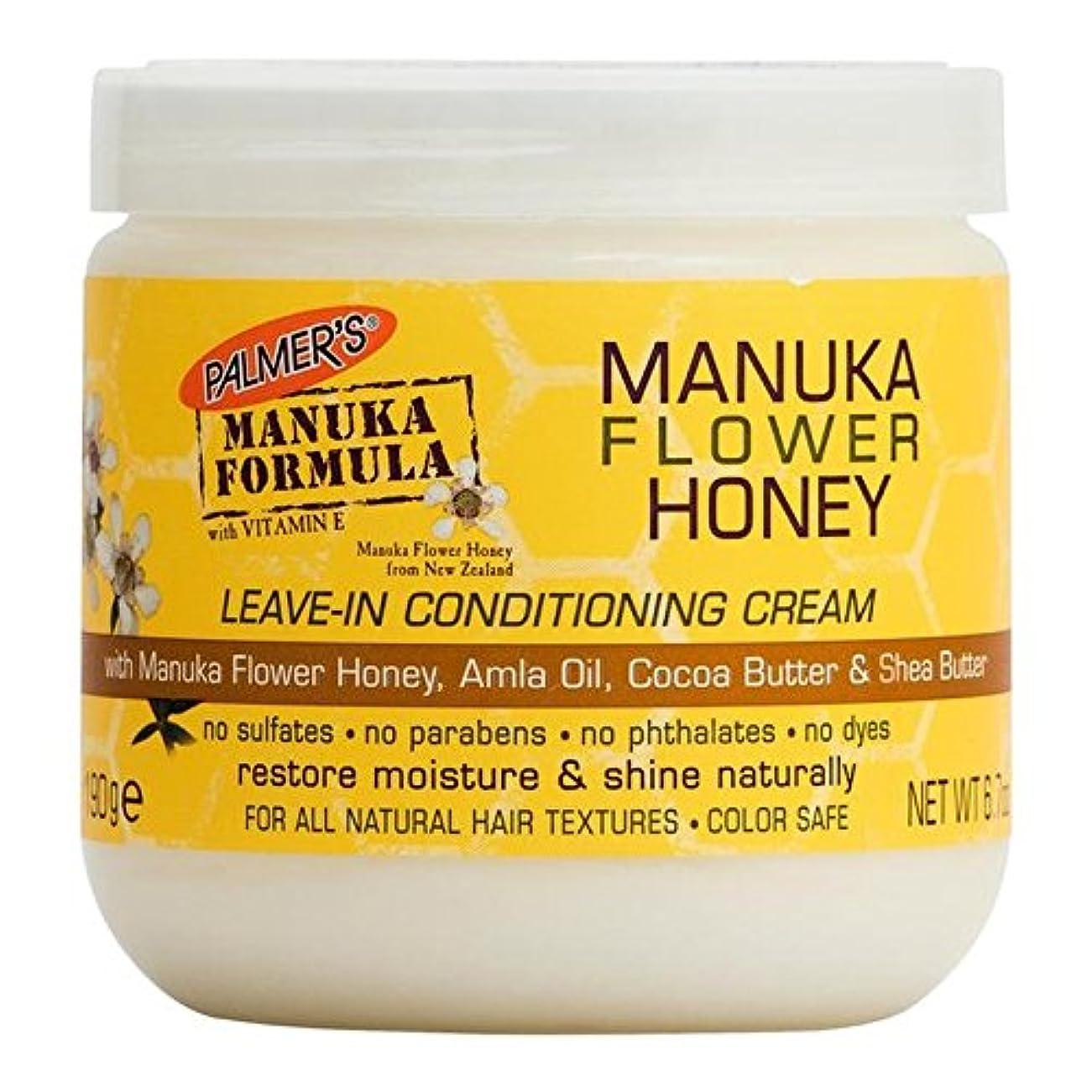 木製構築する恵みPalmer's Manuka Formula Manuka Flower Honey Leave-In Conditioning Cream 190g - パーマーのマヌカ式マヌカの花の蜂蜜のリーブインコンディショニングクリーム190グラム [並行輸入品]