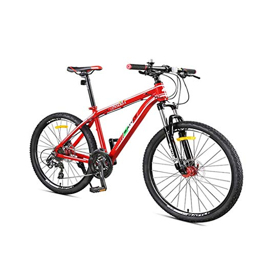 24 Inch,Off-Road Mountain Bikes,Mountain Trail Bike with Front Suspension, Aluminum Alloy Mountain Bicycle, Dual Disc Brake Adjustable Seat-A