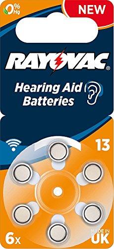 RAYOVAC - V13R Acoustic Special–Pack von 6Hörgerätebatterien, grau 146437