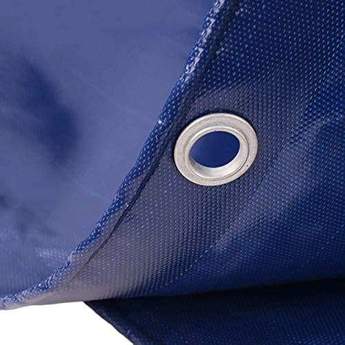 Multifunctioneel dekzeil van PVC, met oogjes, duurzaam, blauw, waterdicht, voor zonnescherm, camper, brandhout, 420 g/m2 (afmetingen: 3 × 4 m) 4×6m