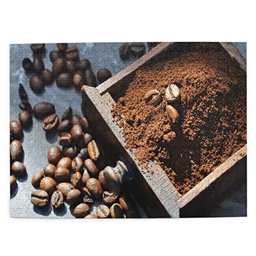 Starodec Adulto 500 Piezas Juego de Rompecabezas Molino de bandejas recolectadas en Polvo de Granos de café Juguetes Educativos para Niños Decoración hogareña