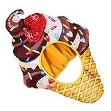 NUOBESTY Plüsch-Eiscreme-Hut, ideal als Partyzubehör, Halloween-Partyhüte