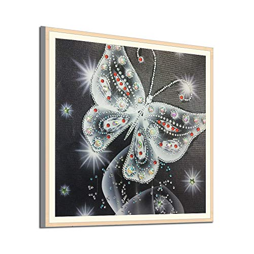 Pet1997 5D DIY Diamond Painting Full Drill Cross Stitch Kit 30x30cm, Cross Stitch Kits Crystal Rhinestone Diamond Embroidery Paintings Pictures Arts Craft for Home Wall Decor (Black)