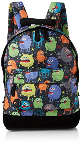 Mi-Pac Mini Backpack Print Mochila Tipo Casual, 33 cm, 10.5 litros, Monsters Blk