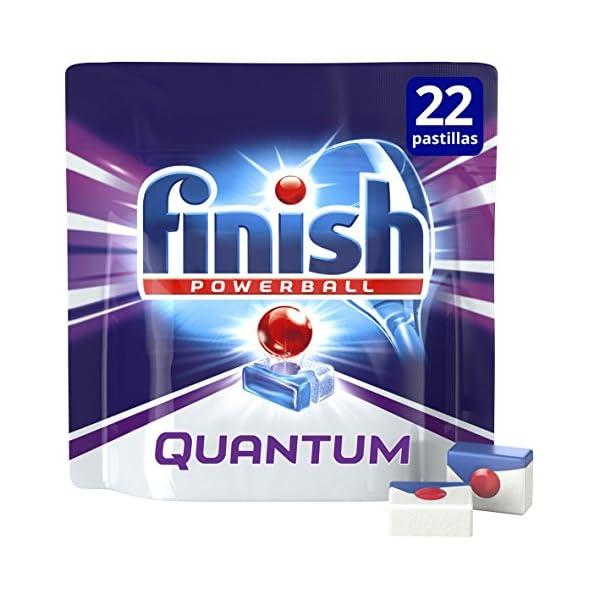 Finish Quantum Regular Pastillas para Lavavajillas – 16 + 6 pastillas