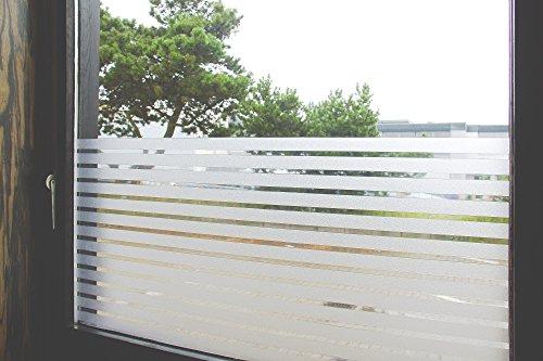 Tamia-Living Statische raamfolie, 90% uv-zonwering, zelfklevende privacyfolie, glasdecoratie, liniaal wit, 2,5 cm, S018 (90 x 150 cm)