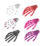 Lurrose 12PCS Devil Skeleton Hair Clips Ghost Claws Hand Hairpins Crocodile Hair Pins for Halloween Party