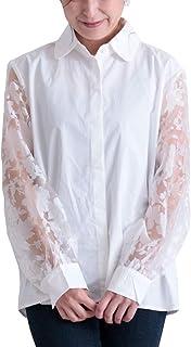 [サワ アラモード] シースルー 花 模様 袖 シャツ トップス レディース