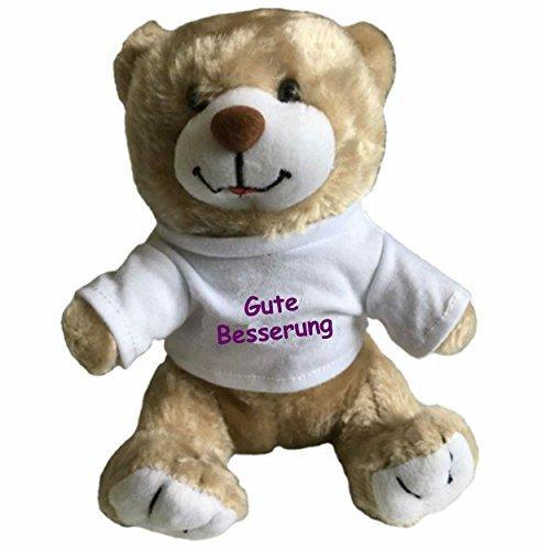 Ann Susan Kuscheltier Teddybär Fred Bedruckt mit Gute Besserung