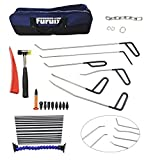 Furuix Auto PDR Tool PDR Rods Dent Puller Paintless Dent Repair Tools Car Dent Removal Repair Tool Door Ding Remover Auto Body Dent Removel Tools (Black)