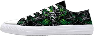 Unique Skull Print Shoes for Men Woman Canvas Shoes for Teenagers Boys Girls Fashion Sneakers