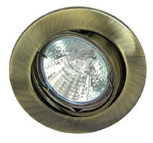 Rutec Einbaustrahler Downlight 68mm altmessing ALU55356