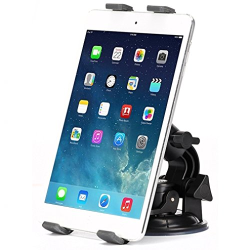 Heavy Duty Car Mount Dash Windshield Tablet Holder Stand for Microsoft Surface Pro 3 - NABI 2 - NABI Jr 5 - NABI XD 10.1' - Nokia Lumia 2520 - US Cellular LG G Pad F 8.0