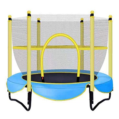 M-YN 5 FT Trampoline with Safety Enclosure -Indoor or Outdoor Trampoline for Kids (Color : Blue, Size : 1.5M)