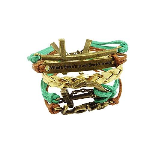 Honbay 2PCS Adjustable Bohemia Natural Shell Bracelet Handmade Summer Beach Shell Anklet